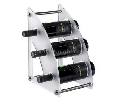 Custom acrylic wine bottle holder