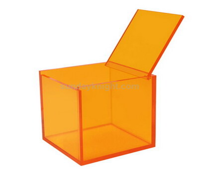 perspex box with pinned lid
