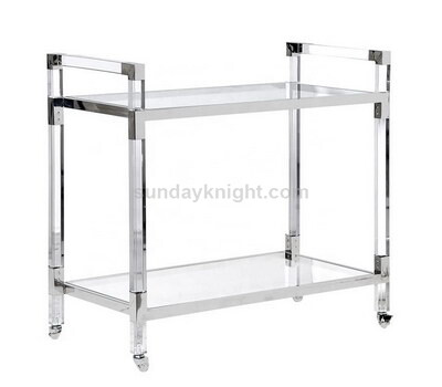 Hotel Furniture Clear Acrylic Room Service Trolley Cart