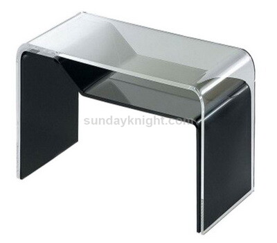 Acrylic coffee table with shelf