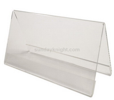 V shape clear acrylic sign holder