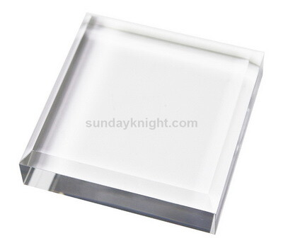 Custom acrylic beveled display block