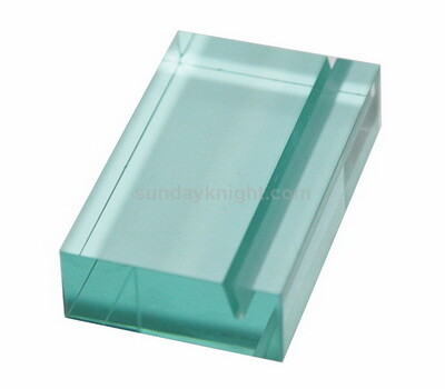 Acrylic Block Sign Holder Acrylic Block with Slot