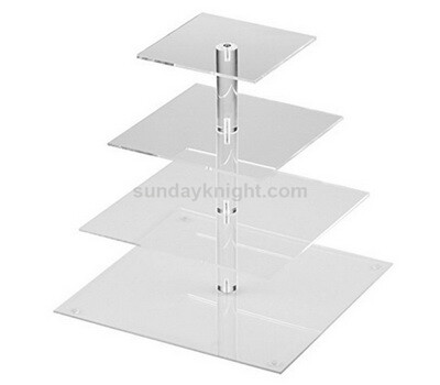 SKFD-178-1 Square acrylic cupcake stand