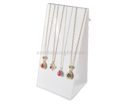 White acrylic display stand for necklace
