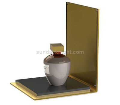 Gold acrylic perfume display stand