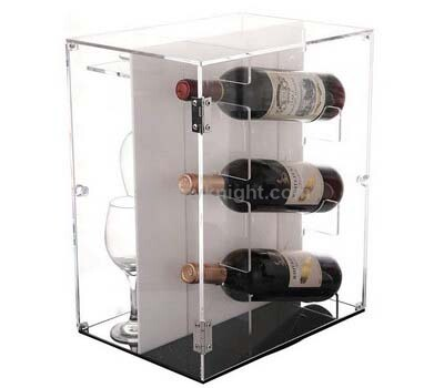 Acrylic Wine Bottle & Glass Holder