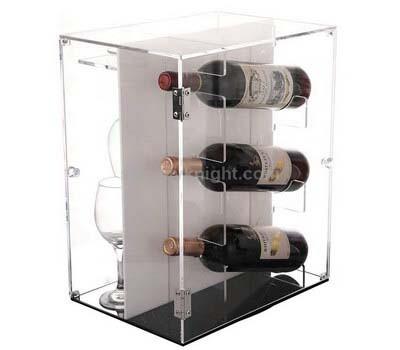 Acrylic Wine Bottle & Glass Holder