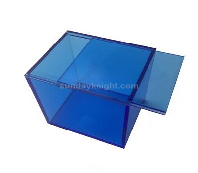 Custom color acrylic sliding lid box