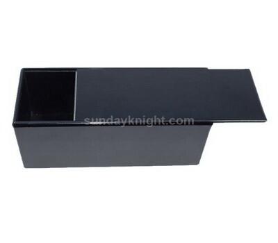 Black acrylic sliding lid box
