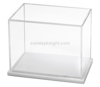 Acrylic display box with white base