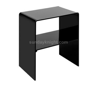 Custom black acrylic side table