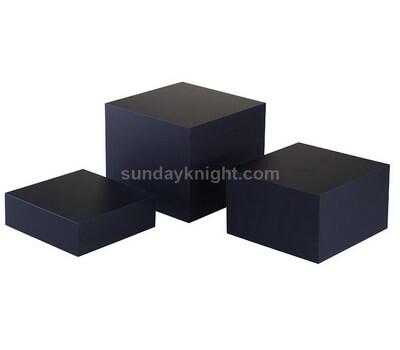 Custom black acrylic blocks