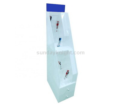 Floor standing acrylic pen display rack