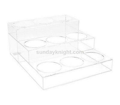 Custom clear acrylic wine organizer