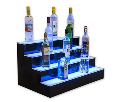 4 tier LED display stand for wine
