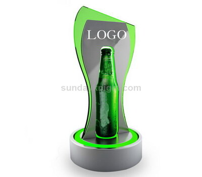 LED display stand for beer bottle