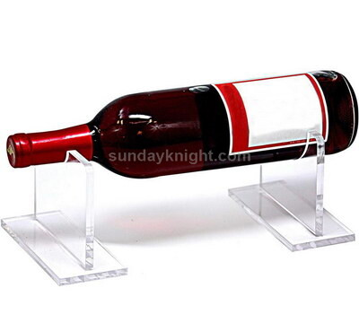 Clear wine bottle display stand