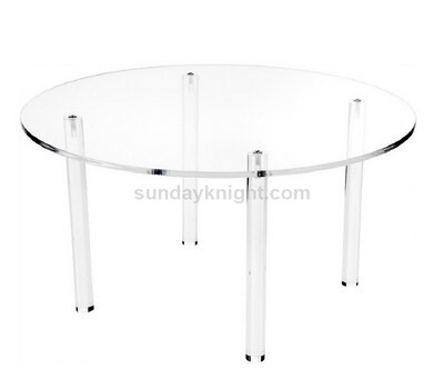 Round acrylic dining table