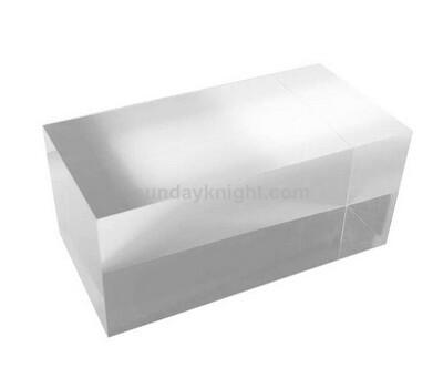 Custom Size Solid Clear Acrylic Block
