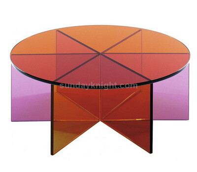 Custom round acrylic dining table