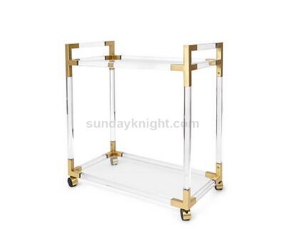 SKAF-146-1 Acrylic gold bar cart