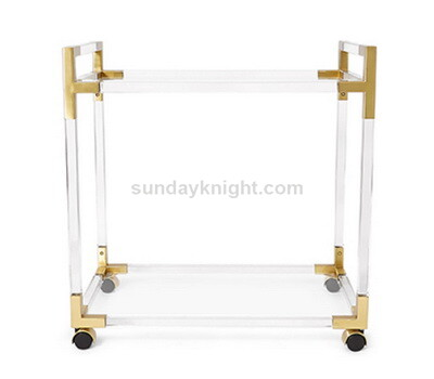 Acrylic gold bar cart