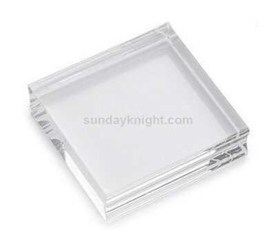 Custom clear acrylic block with finger grooves