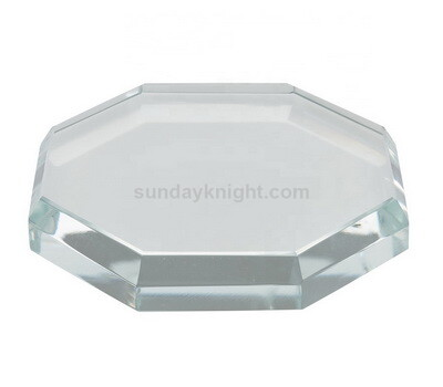 Custom octagon acrylic block base