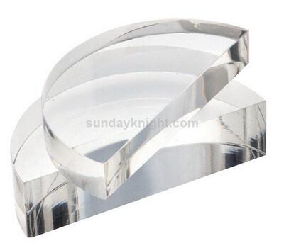 Custom semicircle acrylic block