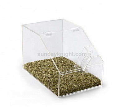 Custom clear bulk food dispenser