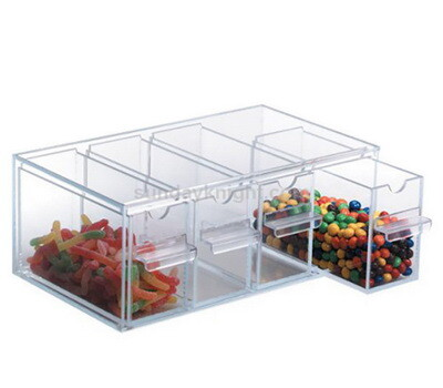 Clear acrylic bulk candy storage bins