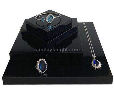 Custom acrylic jewelry display block