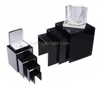 Custom acrylic jewelry display riser