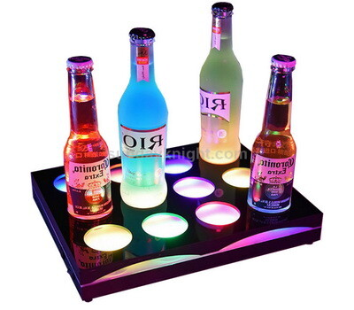 LED light 8 wine bottle display holder