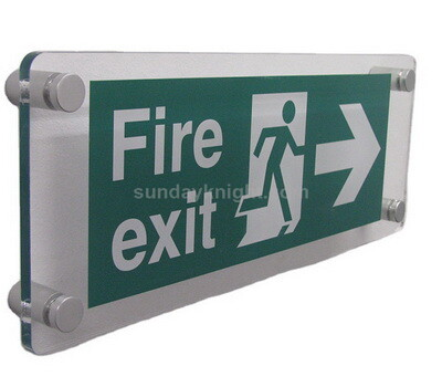 Custom Fire Exit Sign Board Emergency Sign