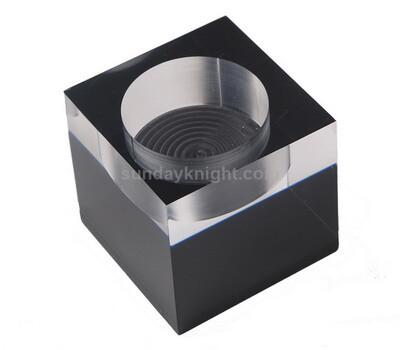 Tea Light Candle Holder Block Cube
