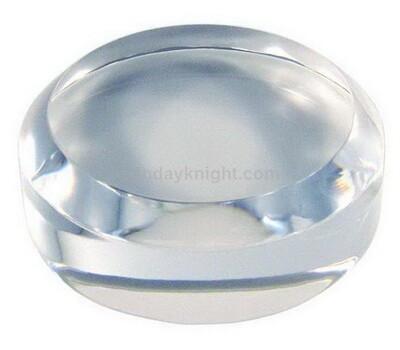Clear acrylic block soap dish