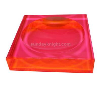 SKCC-057-1 Custom acrylic block soap dish