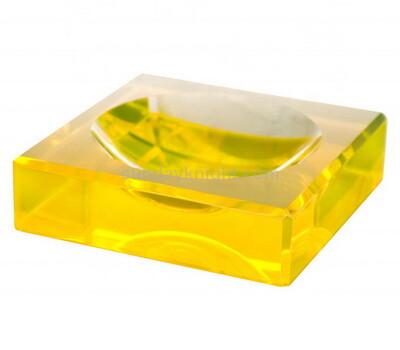 SKCC-057-2 Custom acrylic block soap dish