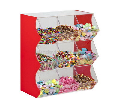 Wholesale acrylic candy display bins with dividers