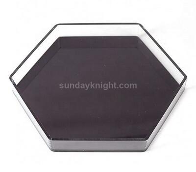SKAT-119-1 custom acrylic hexagon food serving tray