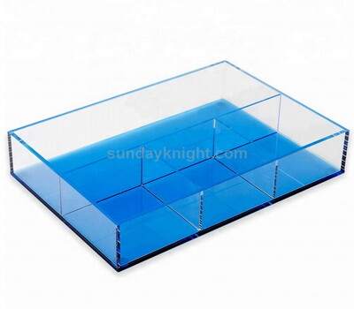 Custom acrylic tray with dividers