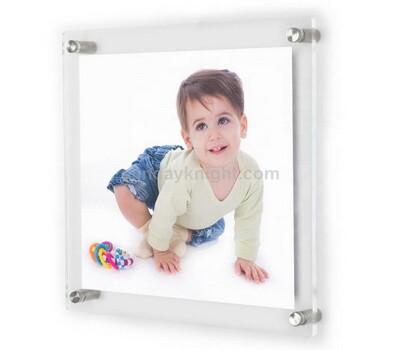 Custom wall mount acrylic frames