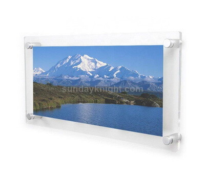 Frameless wall mounted acrylic picture frames