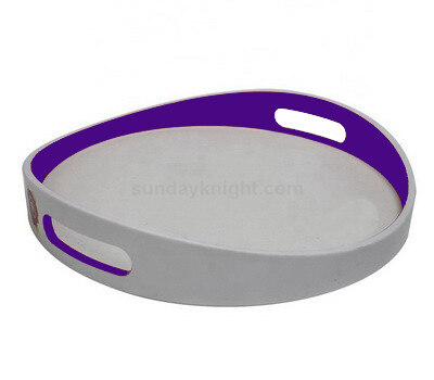 Customize acrylic serving tray with handle