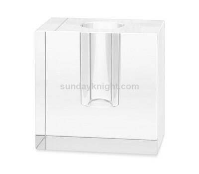 SKCC-067-1 Acrylic block bud vase wholesale