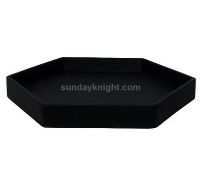 Black hexagon acrylic serving tray