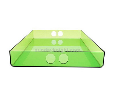 Custom translucent colored acrylic tray