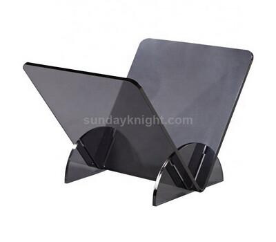 Translucent black acrylic book shelf